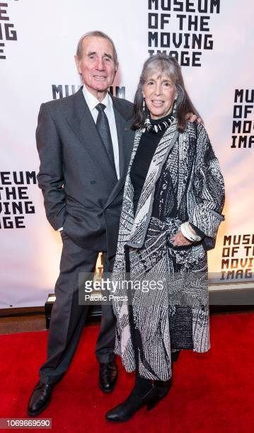 Jim Dale and Julia Schafler attend Museum Moving Image Salute Gala honoring Glenn Close at 583 Park Avenue.