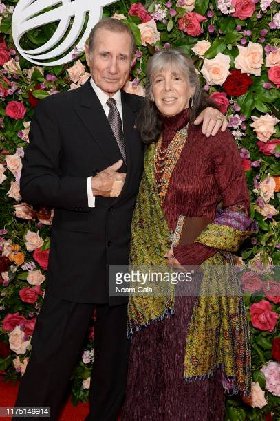 Jim Dale and Julia Schafler attend The American Theatre Wing's 2019 Gala at Cipriani 42nd Street on September 16 2019 in New York City
