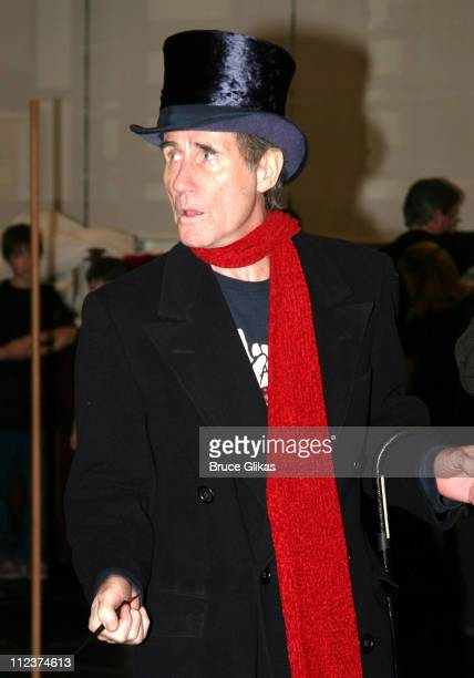 Jim Dale as Scrooge during 'A Christmas Carol' Open Rehearsal For Its Tenth and Final Year at Times Square Rehearsal Studios in New York NY United...