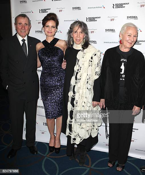 Jim Dale, Carla Gugino, Julia Schafler & Rosemary Harris attending the Roundabout Theatre Company's 2013 Spring Gala at Hammerstein Ballroom in New...