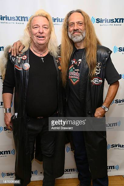 Jim Dandy Mangrum and Rickie Lee ÒRiskyÓ Reynolds from Black Oak Arkansas visit the SiriusXM Studios on November 5 2013 in New York City