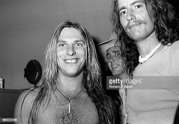 Jim 'Dandy' Mangrum from Black Oak Arkansas posed at a party in New York in 1976