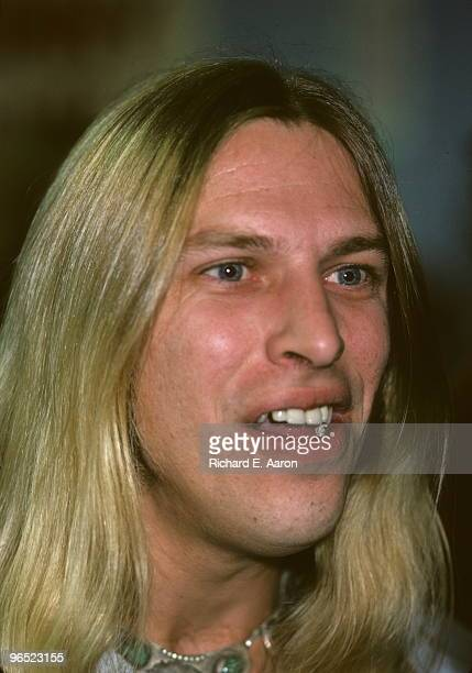 Jim 'Dandy' Mangrum from Black Oak Arkansas posed in New York in 1976