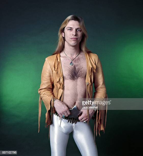 Jim Dandy Mangrum frontman of southern rock group Black Oak Arkansas photographed in 1975