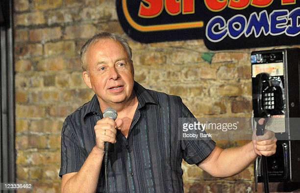Jim David performs at The Stress Factory Comedy Club on September 1, 2011 in New Brunswick, New Jersey.