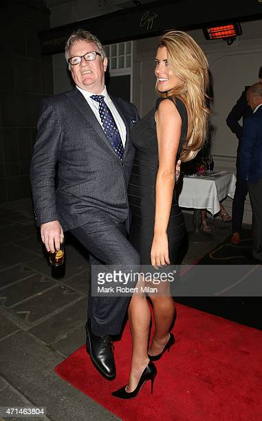 Jim Davidson and Helen Wood attending the Hot Gossip launch party at Gigi's on April 28 2015 in London England