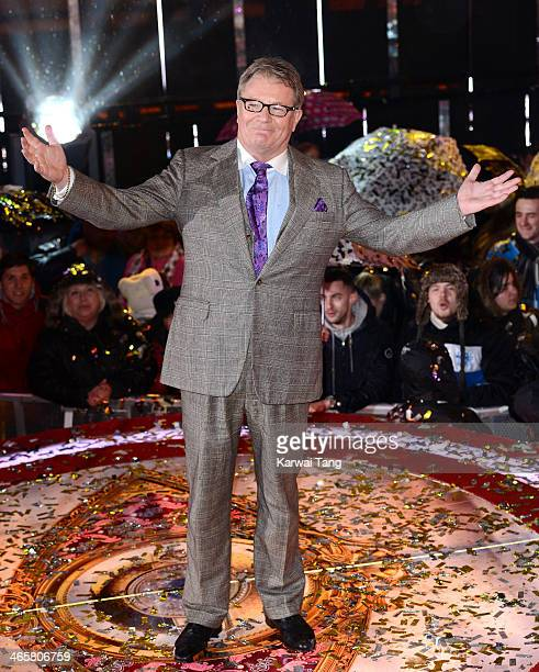 Jim Davidson is announced as the winner of Celebrity Big Brother at Elstree Studios on January 29 2014 in Borehamwood England