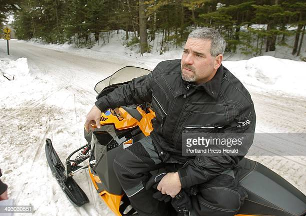 Jim Delaney of Massachusetts comes to the Rangeley area often to snowmobile and says he prefers Maine's law requiring snowmobilers to operate at a...