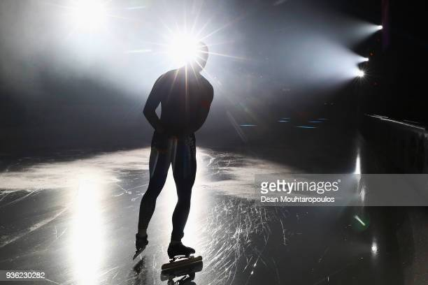 Jim Dhore of the Netherlands gets ready to compete during De Zilveren Bal or Silver Ball held in the Elfstedenhal on March 21 2018 in Leeuwarden...