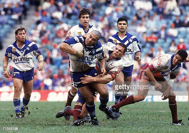 Jim Dymock of the Bulldogs in action the ARL Grand Final between the Canterbury Bulldogs and the Manly Sea Eagles at the Sydney Football Stadium...