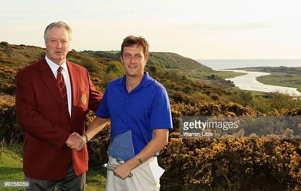 Jim Farmer Captain of the PGA and winner Ian Brown of Newent pose after the RCW 2010 Welsh Open Young PGA Professional Championship at Southerndown...
