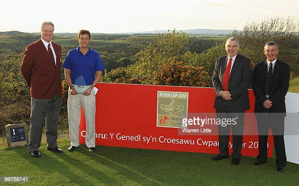 Jim Farmer Captain of the PGA Ian Brown of Newent Rob Holt Chief Executive of Ryder Cup Wales 2010 LTD and Mike Blackman Chairman of Southerndown...