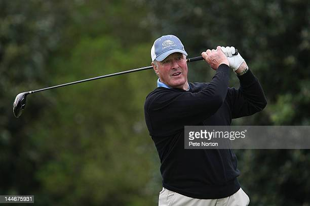 Jim Farmer of Royal Ancient Golf Club tees off at the 1st hole during the Senior PGA Professional Championship at Northamptonshire County Golf Club...