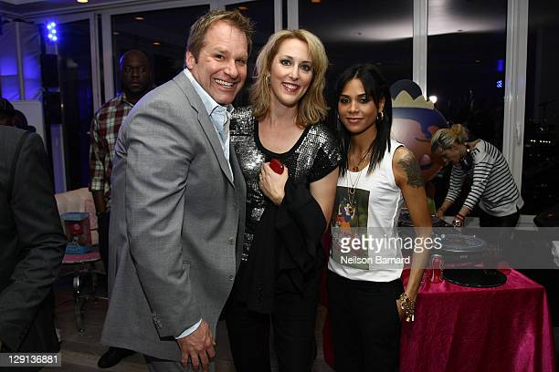 Jim Fielding President Disney Store Worldwide Robin Beuthin Creative Director NA and Kidada Jones attend the Kidada for Disney store launch at...