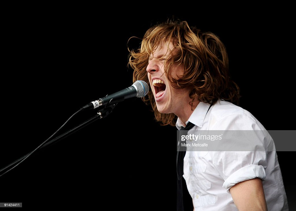 Jim Finn of Art Vs Science performs on stage during the Parklife Festival at Kippax Lake on October 4, 2009 in Sydney, Australia.
