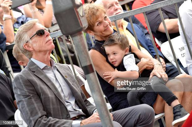 Jim Fisher Karen Fisher and Isaiah Michael Fisher attend the ceremony honoring Carrie Underwood with star on the Hollywood Walk of Fame on September...