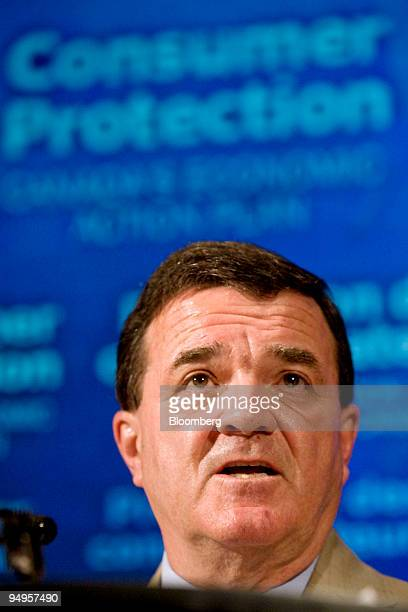 Jim Flaherty Canada's finance minister pauses during a news conference in Toronto Ontario Canada on Thursday May 21 2009 Canada will introduce new...