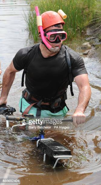 World Mountain Bike Bog Snorkelling Championships Stock Photos And