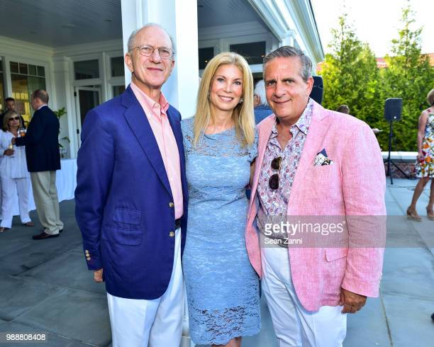 Jim Freeman Laura Lofaro Freeman and Greg D'Elia attend Jean And Martin Shafiroff Host Cocktails For Stony Brook Southampton Hospital on June 30 2018...