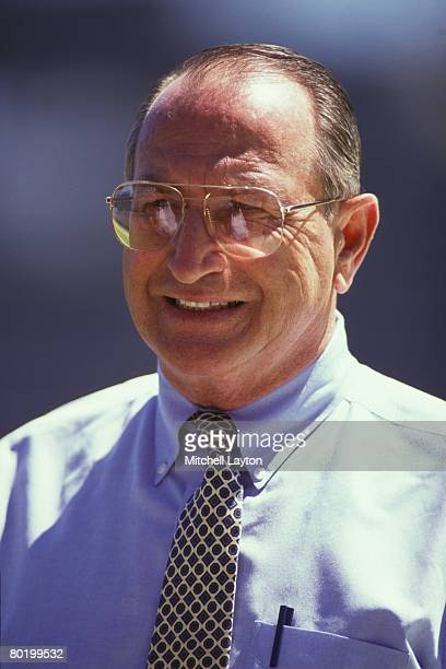 Jim Frey General manager of the Chicago Cubs before a baseball game against the Los Angeles Dodgers on June 1 1993 at Wrigley Field in Chicago...