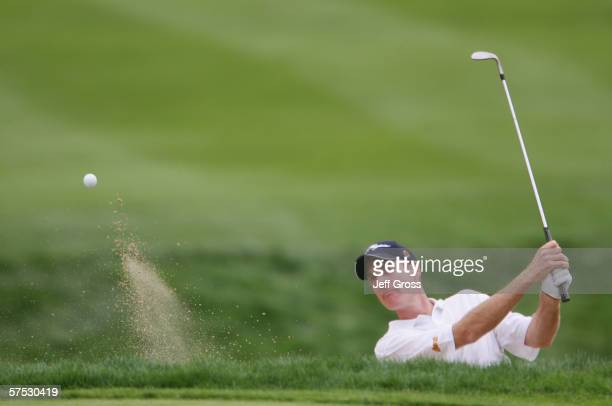 Jim Furyk hits a shot during the first round of the Target World Challenge at the Sherwood Country Club on December 8 2005 in Thousand Oaks California