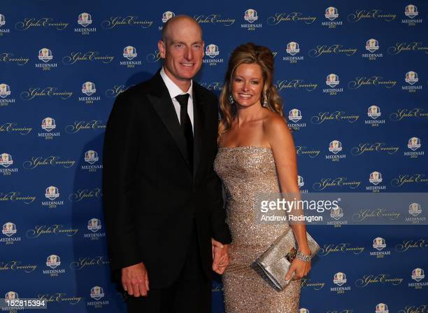 Jim Furyk of the USA and his partner Tabitha Furyk attend the 39th Ryder Cup Gala at Akoo Theatre at Rosemont on September 26 2012 in Rosemont...