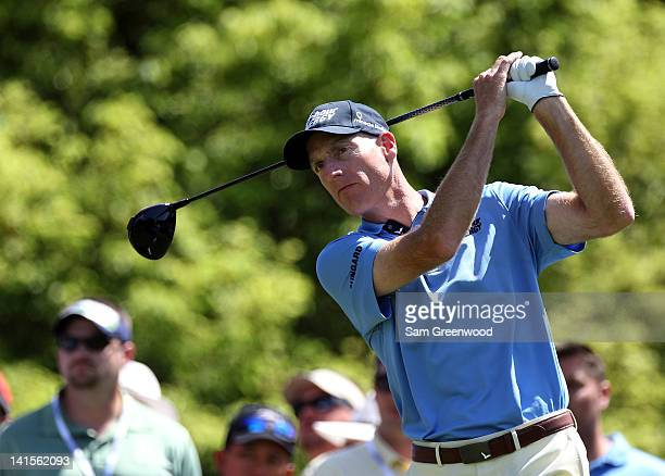 Jim Furyk plays a shot on the 6th hole during the final round of the Transitions Championship at the Innisbrook Resort and Golf Club on March 18 2012...