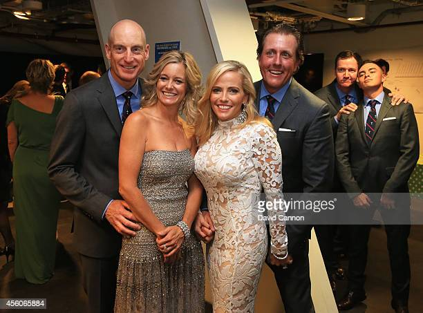 Jim Furyk Tabitha Furyk Amy Mickelson Phil Mickelson Jimmy Walker and Rickie Fowler of the United States pose during the 2014 Ryder Cup Gala Concert...