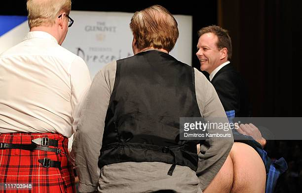 Jim Gaffigan Brian Cox Chris Noth and Kiefer Sutherland walk the runway at the 9th annual Dressed to Kilt charity fashion show at the Hammerstein...