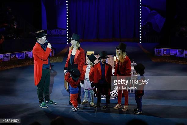 Jim Gaffigan JeannieGaffigan Katie Gaffigan Michael Gaffigan Patrick Gaffigan Marre Gaffigan and Jack Gaffigan attend Big Apple Circus 2015 family...