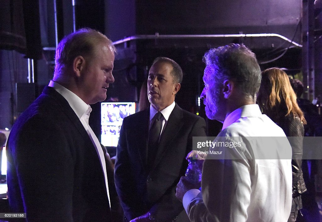 Jim Gaffigan, Jerry Seinfeld, Jon Stewart attend as The New York Comedy Festival and The Bob Woodruff Foundation present the 10th Annual Stand Up for Heroes event at The Theater at Madison Square Garden on November 1, 2016 in New York City.