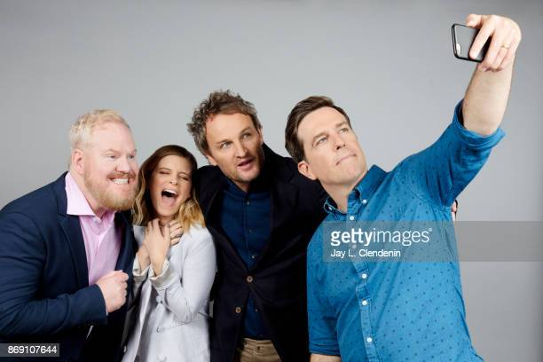 Jim Gaffigan Kara Mara Jason Clarke and actor Ed Helms from the film 'Chappaquiddick' poses for a portrait at the 2017 Toronto International Film...
