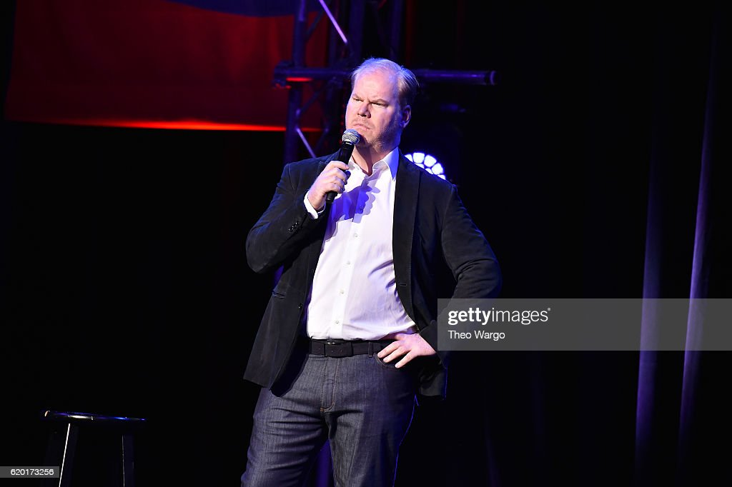 Jim Gaffigan performs on stage during 10th Annual Stand Up For Heroes at The Theater at Madison Square Garden on November 1, 2016 in New York City.