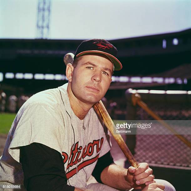 Jim Gentile Posing with Baseball Bat