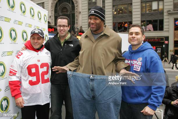 Jim Germanakos of the televeision show The Biggest Loser, Jared Fogle, famous for losing 245 pounds by eating Subway sandwiches, New York Giants...