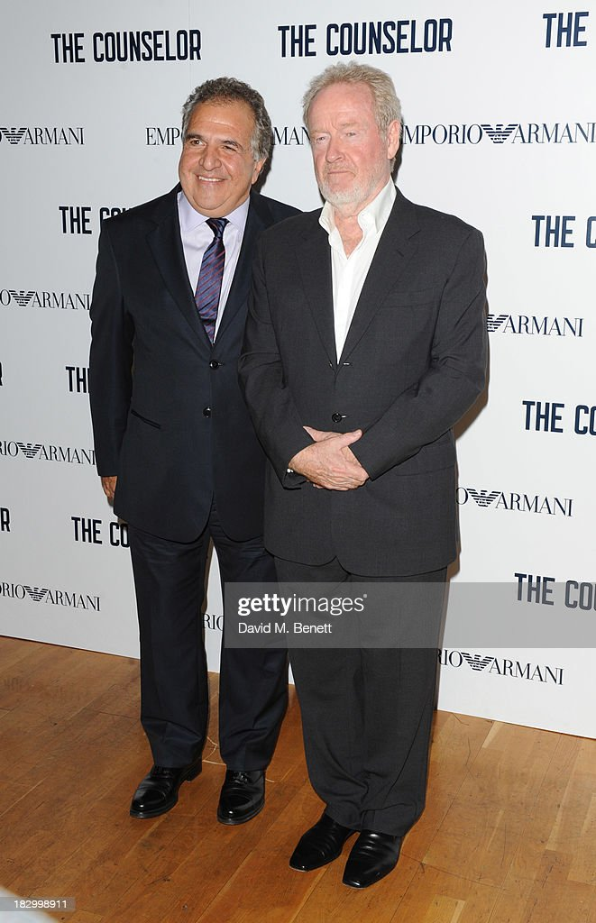 Jim Gianopulos and Ridley Scott attends a special screening of 'The Counselor' at the Odeon West End on October 3, 2013 in London, England.