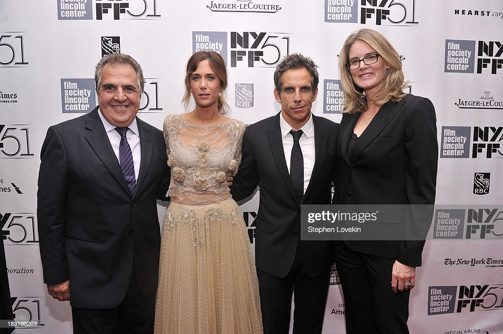 Jim Gianopulos, Kristen Wiig, Ben Stiller and Emma Watts attend the Centerpiece Gala Presentation Of 'The Secret Life Of Walter Mitty' during the 51st New York Film Festival at Alice Tully Hall at Lincoln Center on October 5, 2013 in New York City.