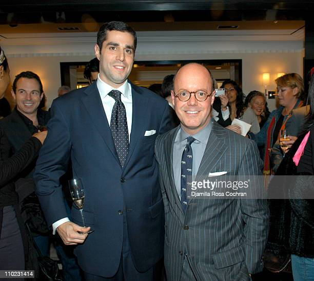Jim Gold and Robert Burke during Bergdorf Goodman Hosts a Cocktail Reception in Honor of Valentino at Bergdorf Goodman in New York City New York...