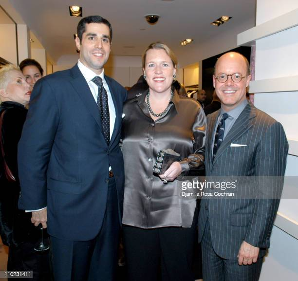 Jim Gold Marjorie Gubelmann and Robert Burke during Bergdorf Goodman Hosts a Cocktail Reception in Honor of Valentino at Bergdorf Goodman in New York...