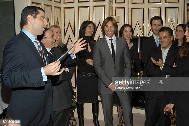 Jim Gold Roberto Faraone Mennella and Amedeo Scognamiglio attend BERGDORF GOODMAN and The Italian Trade Commission host a dinner with the Young...