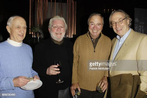 Jim Goodale Richard Cohen Ken Auletta and Morgan Entrekin attend SUPER BOWL Party at The Oak Room on February 1 2009 in New York City