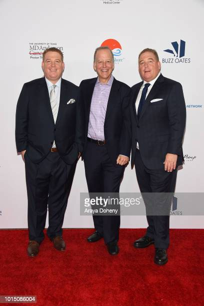 Jim Gray and the Pump brothers attend the 18th Annual Harold and Carole Pump Foundation Gala at The Beverly Hilton Hotel on August 10 2018 in Beverly...