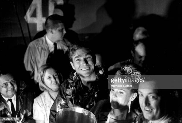 Jim Hall 12 Hours of Sebring Sebring 03 October 1965 A happy Jim Hall after his victory in the 1965 12 Hours of Sebring at the wheel of a car of his...