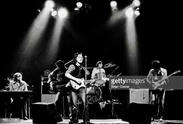 Jim Hall Chrissie Stewart Frankie Miller Graham Deakin and Ray Minhinnet of Frankie Miller's Full House performing live in London in 1976