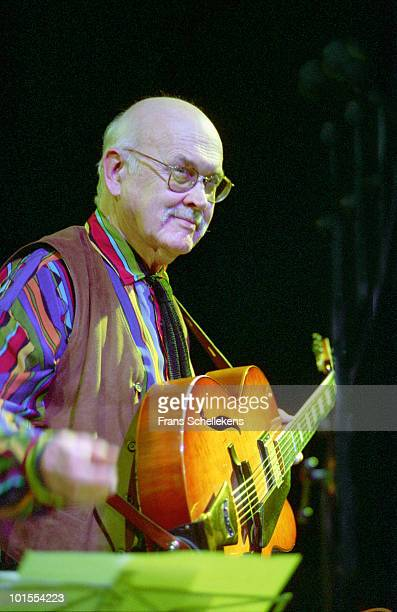 Jim Hall performs live on stage at Bimhuis in Amsterdam, Netherlands on October 29 2001