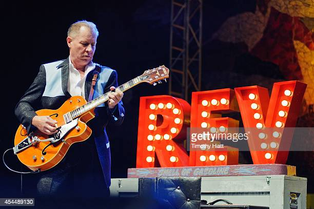 Jim Heath aka Reverend Horton Heat performs on day three of the Bumbershoot Music and Arts Festival on September 1 2014 in Seattle Washington