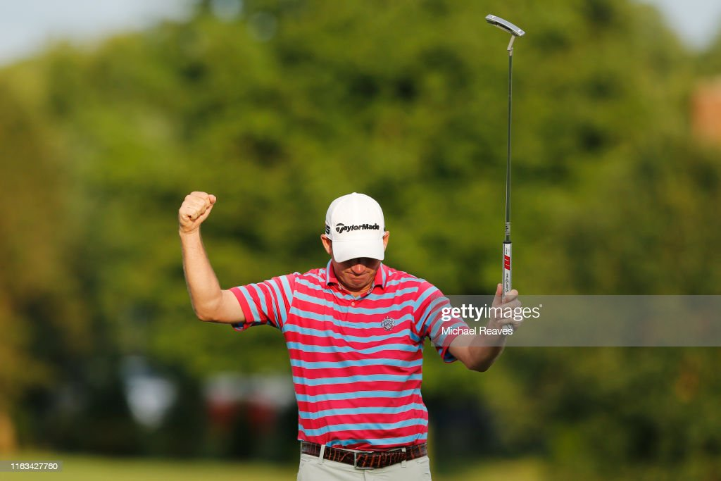 Jim Herman Of The United States Celebrates On The 18th Green After News Photo Getty Images
