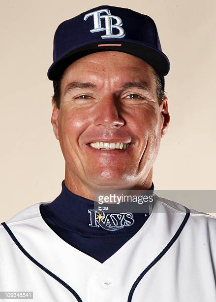 Jim Hickey of the Tampa Bay Rays poses for a portrait during the Tampa Bay Rays Photo Day on February 22 2011 at the Charlotte Sports Complex in Port...