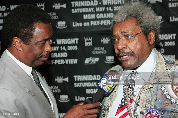 Jim Hill and Don King during Brotherhood Crusade Gala Dinner at Beverly Hilton Hotel in Beverly Hills CA United States