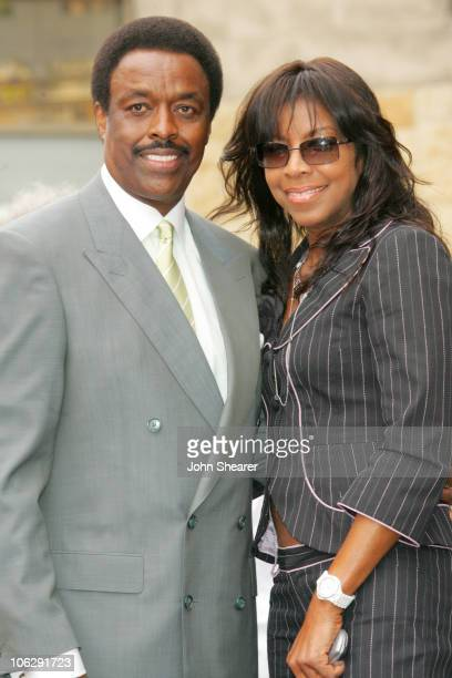 Jim Hill and Natalie Cole during Jim Hill Honored With a Star on the Hollywood Walk of Fame in Los Angeles California United States